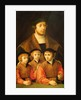 Portrait of a Man and His Three Sons by Bartholomaeus Bruyn