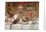 Kittens at a banquet by Louis Eugene Lambert