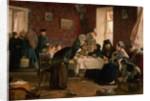 In the Monastery Guesthouse by Aleksei Ivanovich Korzukhin