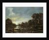 Moonlit River Landscape with Cottages on the Wooded Banks by Aert van der Neer