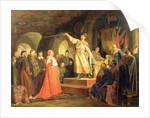 Prince Roman of Halych-Volhynia receiving the ambassadors of Pope Innocent III by Nikolai Vasilievich Nevrev