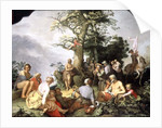 St. John the Baptist preaching by Abraham Bloemaert