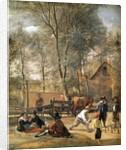 Skittle Players outside an Inn by Jan Havicksz. Steen