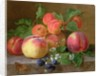 Still Life of Peaches by Henriette Ronner-Knip