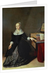 Woman by a Virginal by Godaert Kamper