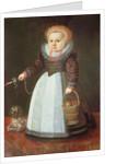 Young Child with a Dog by Johan Cornelisz van Loenen