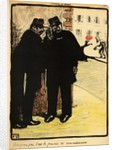 Two policemen hide from the Commissioner's wife by Felix Edouard Vallotton