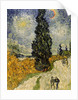 Road with Cypresses by Vincent van Gogh