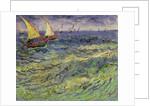 Seascape at Saintes-Maries (View of Mediterranean) by Vincent van Gogh