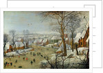 Winter Landscape with Skaters and a Bird Trap by Pieter the Younger Brueghel