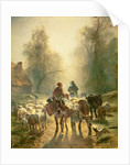 Setting off For Market by Constant-Emile Troyon