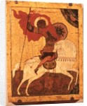 Icon of St.George and the Dragon, late 17th century by Novgorod School