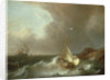 Galleon in Stormy Seas by Jan Claes Rietschoof