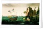 A Dutch Merchant Ship off a Rocky Coast by Cornelis Verbeeck