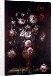 Still Life of Flowers in an Urn by Gaetano Cusati