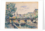 Bank of the Seine near the Pont des Arts, with a view of the Louvre by Paul Signac