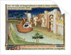 Marco Polo with elephants and camels arriving at Hormuz on the Gulf of Persia from India by Boucicaut Master