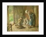 Playing Jacks on the Doorstep by Bernardus Johannes Blommers or Bloomers