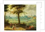 A Village Landscape by a River by Isaak van Oosten