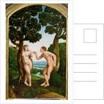 Adam and Eve in Paradise by Jan van Scorel