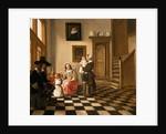A Family in an Interior by Hendrik van der Burgh