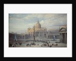 Exterior of St. Peter's, Rome by Louis Haghe