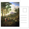 An Arcadian Landscape with Pan and Syrinx by Jacob de Heusch