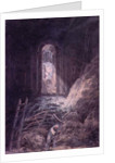A Barn, Interior of the Ruined Refectory of St. Martin's Priory, Dover by Joseph Mallord William Turner
