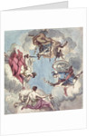 Design for a Ceiling: The Four Cardinal Virtues, Justice, Prudence, Temperance and Fortitude by Sir James Thornhill