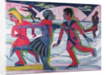 Ice Skaters by Ernst Ludwig Kirchner