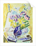 Flowers in a Vase by Ernst Ludwig Kirchner