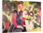 Girl with a Fish Bowl by August Macke
