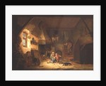 Children Playing by a Cottage Fire by Isack van Ostade