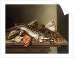 Still Life of Fish on a Table by Isaac van Duynen