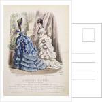 Fashion plate from 'Le Moniteur de la Mode' by French School