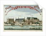 Westminster showing the Abbey, Hall and Parliament House by Robert Morden