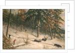 Hunting Moose by Cornelius Krieghoff