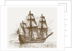 The Swedish flagship Mars, before the Battle of Gotland-Oland by Russian School