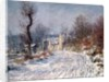 The Road to Giverny, Winter by Claude Monet