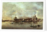 Santa Maria della Salute seen from the mouth of the Grand Canal, Venice by Francesco Guardi