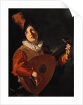 Young Man with a Lute by Bartolomeo Manfredi