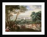 Louis XIV at Vincennes by Adam Frans Van der Meulen