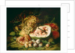 Still Life of Fruit on a Ledge by Frans Snyders or Snijders