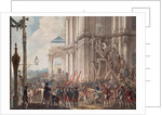 Catherine II on the Balcony of the Winter Palace, greeted by Guards and People on the Day of the Palace Revolution by I.K Kaestner
