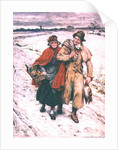 Christmas Shopping, Christmas card by Frank Dadd