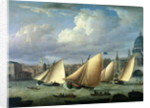 Yachts of the Cumberland Fleet starting at Blackfriars, London by English School