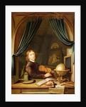 A Musician Playing a Violin by a Draped Casement by Pieter Cornelisz van Egmont