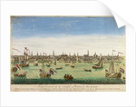 A General View of the Port and Town of Amsterdam by Dutch School
