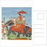 Colonel James Tod travelling by elephant through Rajasthan with his Cavalry and Sepoys by Indian School