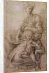 The Virgin and Child with the infant Baptist by Michelangelo Buonarroti